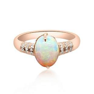 1.80ct Natural Opal 18K Yellow Gold Ring