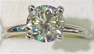 GIA Certified 2.01ct Diamond Ring