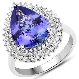 5.16ct Tanzanite 14K White Gold Ring