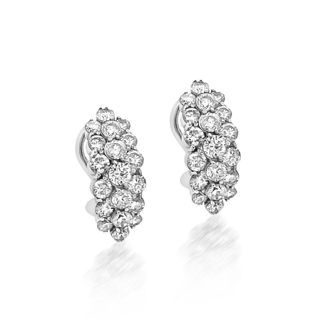 1.78ct Natural Diamonds 18K White Gold Earrings