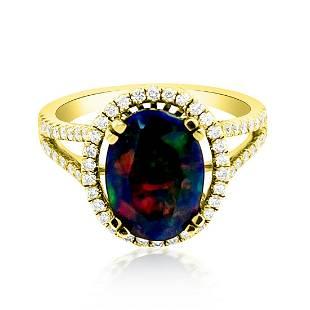 1.93ct Natural Opal 14K Yellow Gold 3.66gm Ring