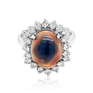 2.33ct Natural OPAL 14K White Gold 4.7gm Ring
