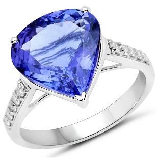 4.98ct Tanzanite 14K White Gold Ring