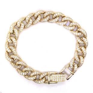 14k yellow gold 49.20gm 4.73ct diamond bracelet