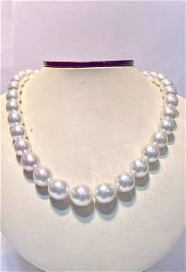 Oval 10X12 white south sea pearl australian 35pcs