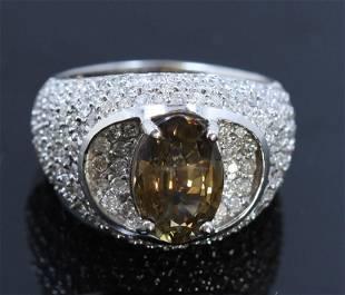 3.40ct Alexandrite 18K White Gold Ring