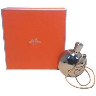 Hermes Silver Palladium Perfume Bottle Necklace