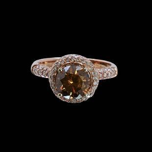2.01ct Brown Diamond 14K Rose Gold Ring