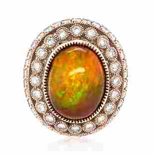 9.52ct OPAL 14K ROSE Gold 15.5gm Ring