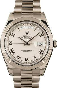 Pre-owned Rolex President Day-Date II - 218239