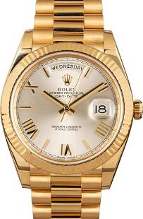 Pre-owned Rolex President Day-Date 228238