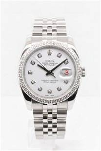 Pre-owned ROLEX DATEJUST Model #116234 S/S 36mm #A2905