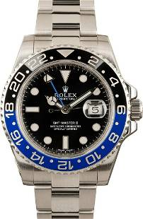Pre-owned Rolex GMT-Master II - 116710BLNR