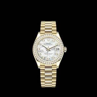 Rolex President YG With Diamond Bezel Model #278288RBR