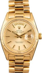 Pre-owned Rolex Day-Date President 1803