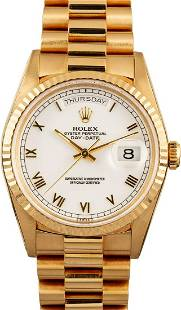 Pre-owned Rolex Day-Date President 18238