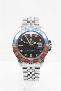 Pre-owned ROLEX GMT Model #1675 S/S 40MM #A2915