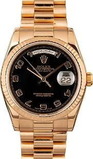 Pre-owned Rolex Day-Date (President) 118235