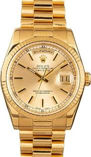 Pre-owned Rolex Day-Date President 118238
