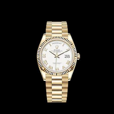 Rolex New 36MM Day Date YG Model #128238