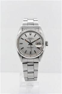 Pre-owned ROLEX DATEJUST Model #1500 S/S 34mm #A2932