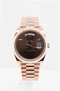 Pre-owned ROLEX DAY-DATE II Model #228235 R/G 40MM