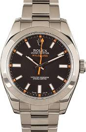 Pre-owned Rolex  Milgauss 116400