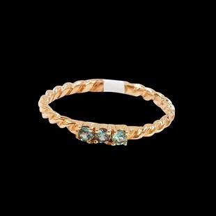 0.10CT NATURAL ALEXANDRITE 14K ROSE GOLD RING