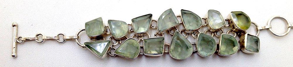 Sterling Silver .925 Vintage Yellow Quartz Bracelet