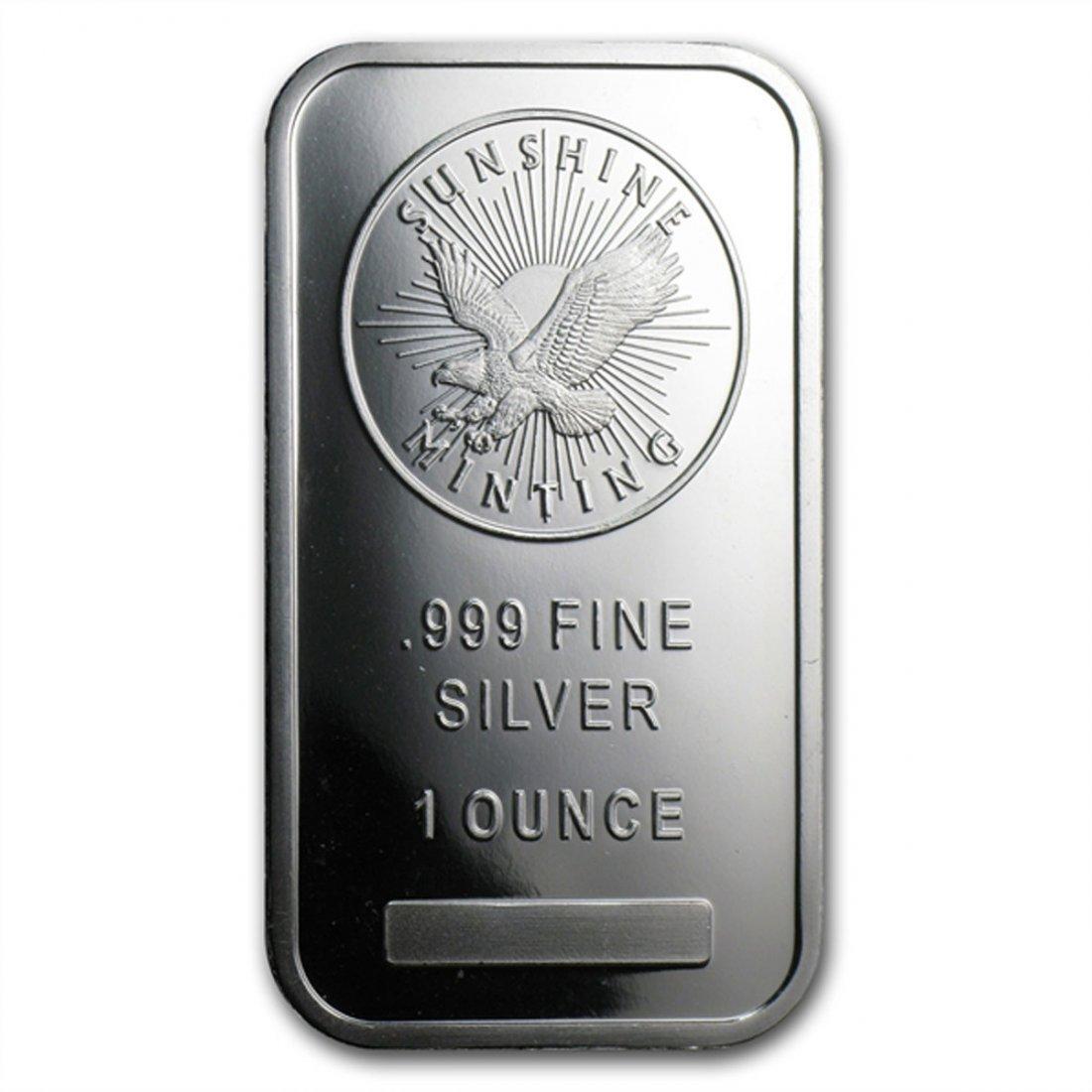 1 oz Sunshine Silver Bar .999 Fine (V2)