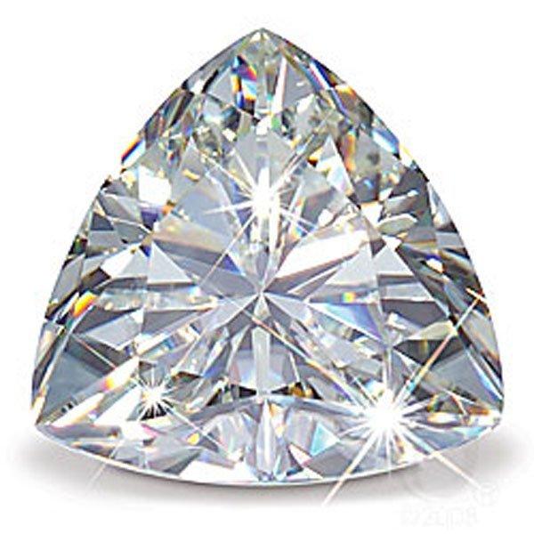 TRILLION cut Diamond 1.21 carat H:SI1: GIA