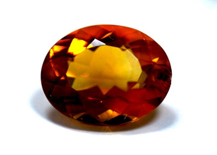 4.35 ct & up CITRINE OVAL CUT