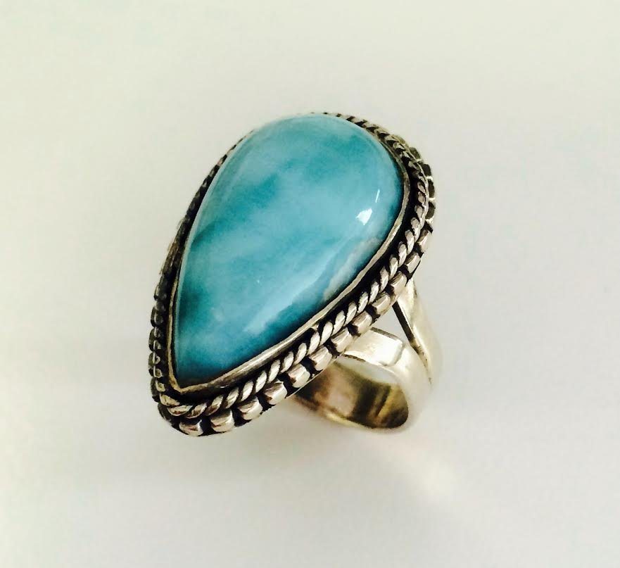 Sterling Silver .925  Turquoise Ring 9.10g RS8.75