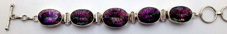 Sterling Silver .925 Mystic Topaz Bracelet