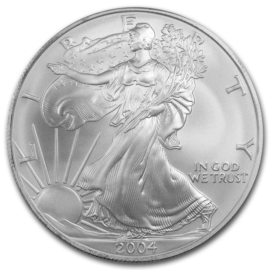 2004 1 oz Silver American Eagle BU