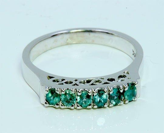 Alexandrite 0.32 ct Ring, 3.09 gram  14K White Gold