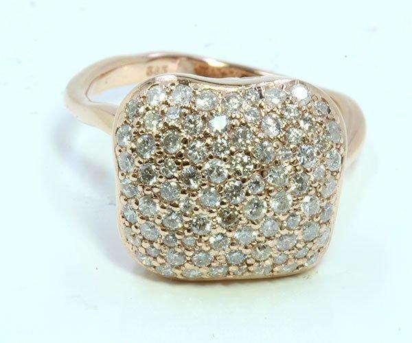 Diamond 1.0 ct Ring, 4.63 gram 14K Rose Gold