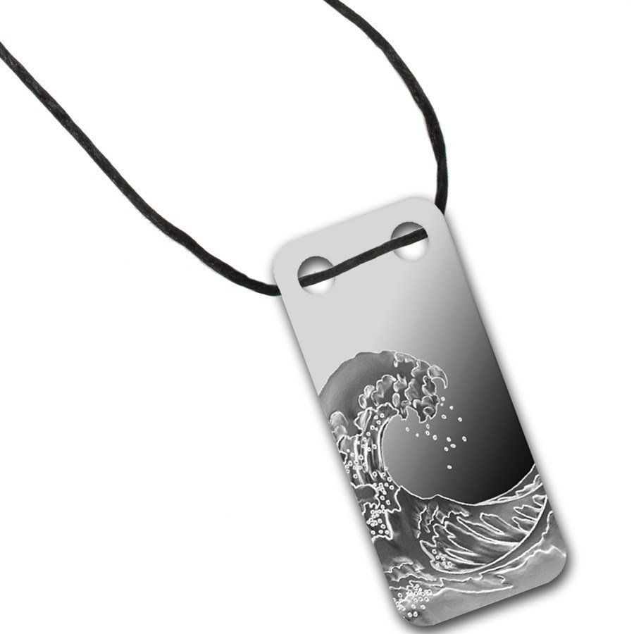 Wave - 1/5 oz Proof Silver Pamp Ingot Pendant