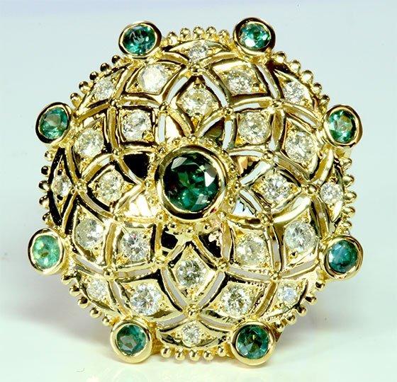 ALEXANDRITE 1.17CT / DIAMOND 1.06CT / 14K YELLOW GOLD