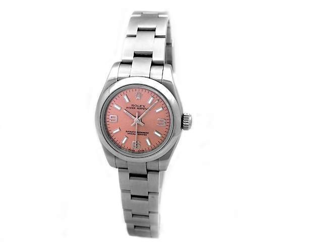 24mm Lady Rolex Stainless Steel Oyster Perpetual Watch.
