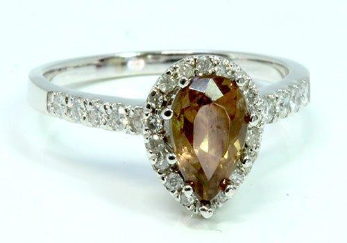 DIAMOND 1.40CT / WHITE DIAMOND 0.28CT / 14K WHITE GOLD