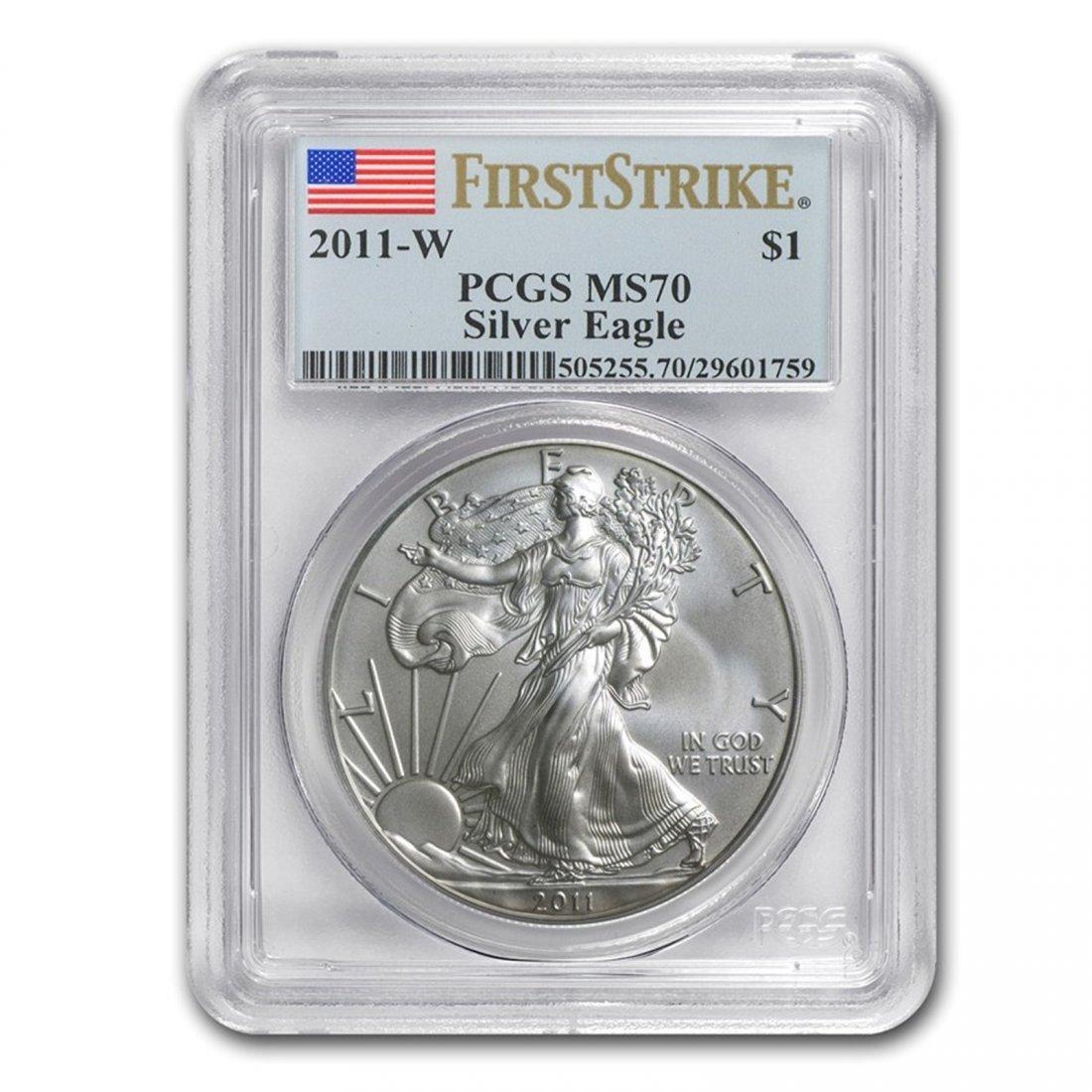 2011-W Burnished Silver American Eagle MS-70 PCGS (FS)