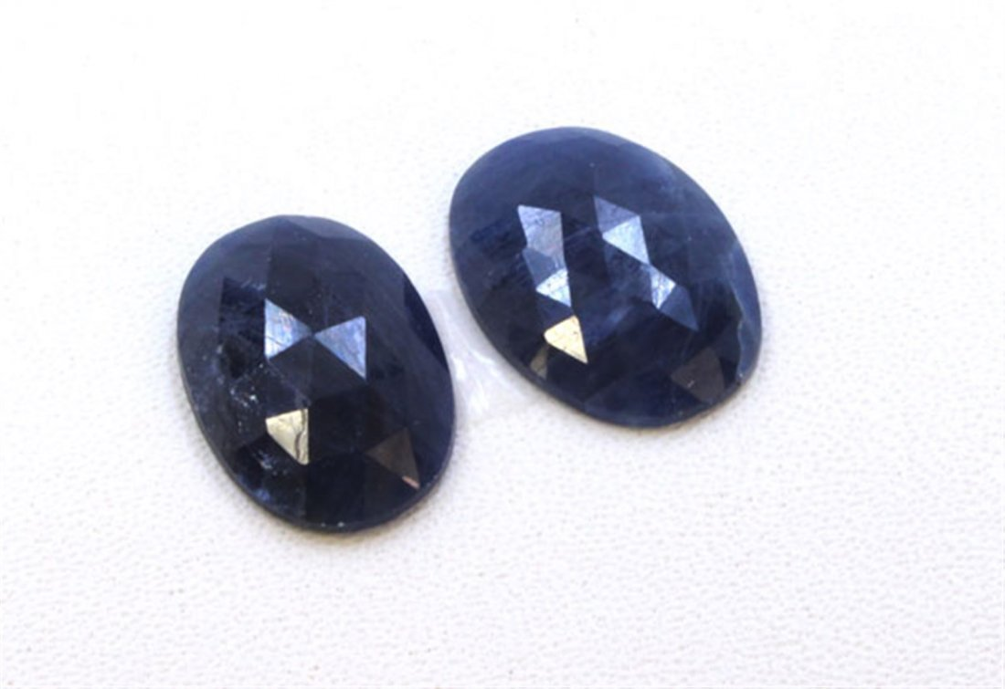 20 ct & up Natural Sapphire Slice Rose Cut Loose Stone
