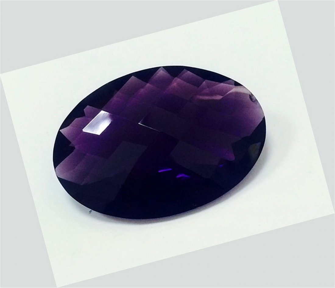 76 ct & up Amethyst Long Oval Shaped Loose Stone