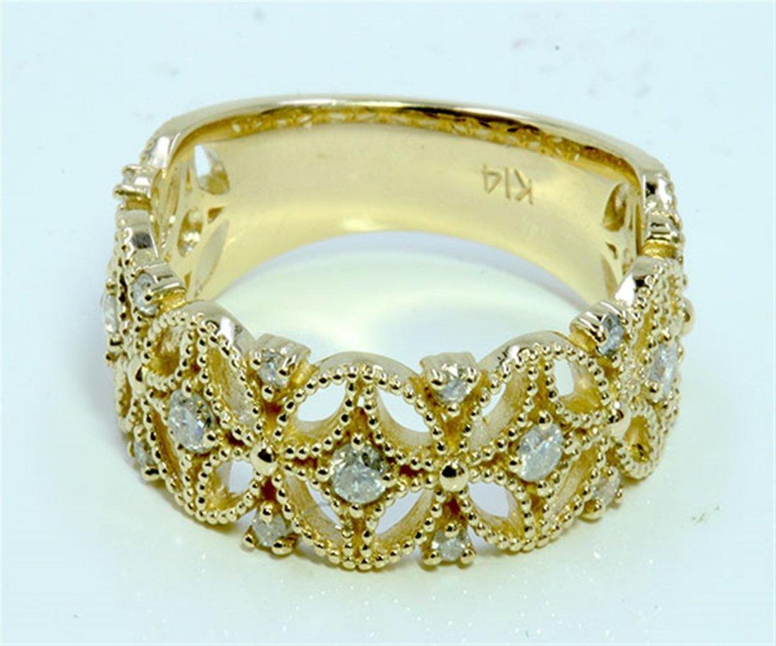 Diamond 0.36 ct Ring, 4.53 gram 14K Yellow Gold