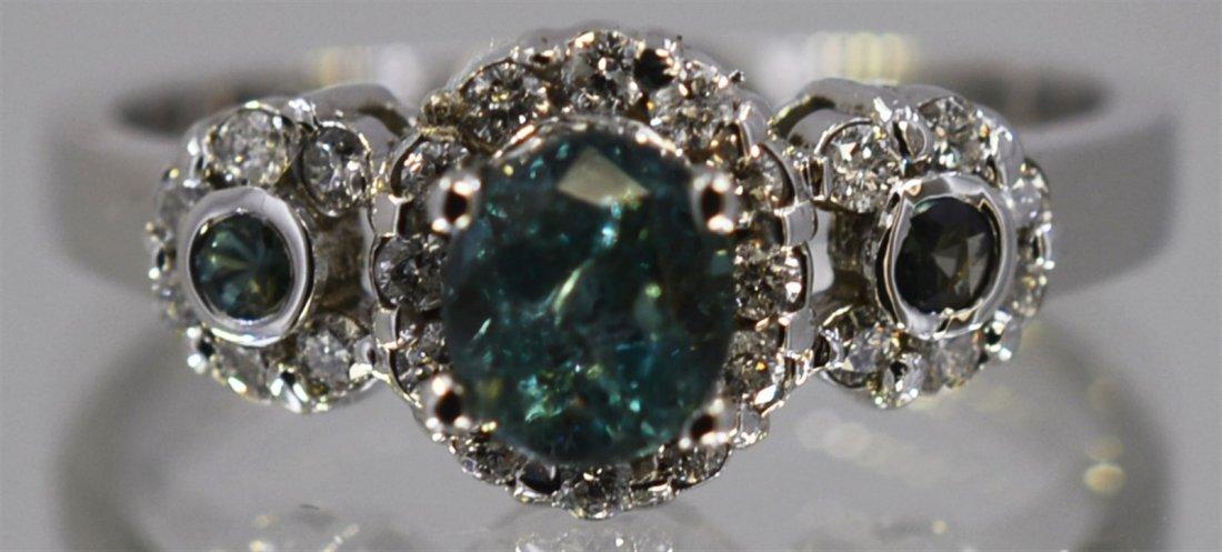Alexandrite  1.11 ctw Diamond Ring 14KW