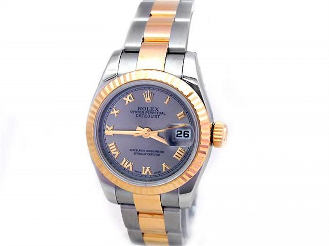 26mm Lady Rolex 18k Gold & Stainless Steel Oyster