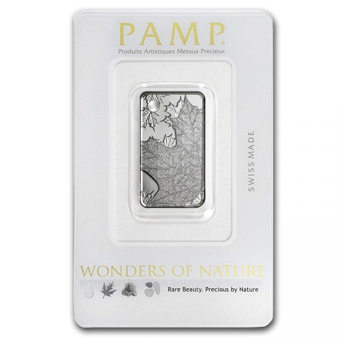 Maple Leaf - 10 gram Silver Pamp Ingot Pendant