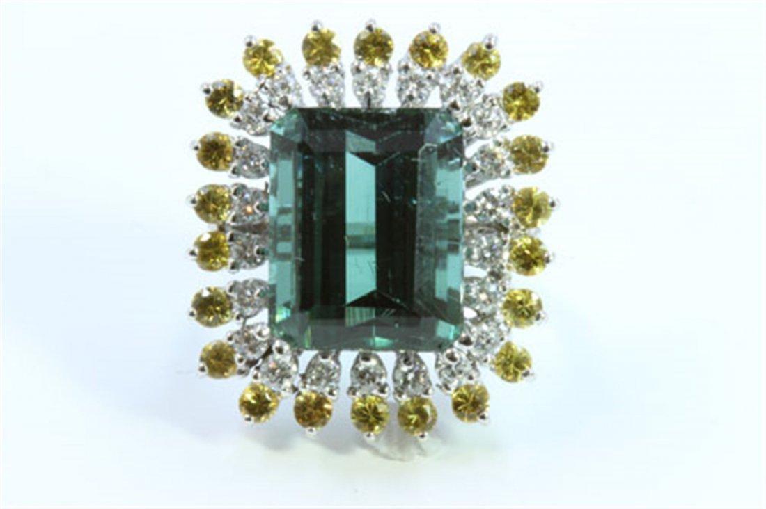 Natural Tourmaline 8.50ct  Yellow Sapphire 1.55ct
