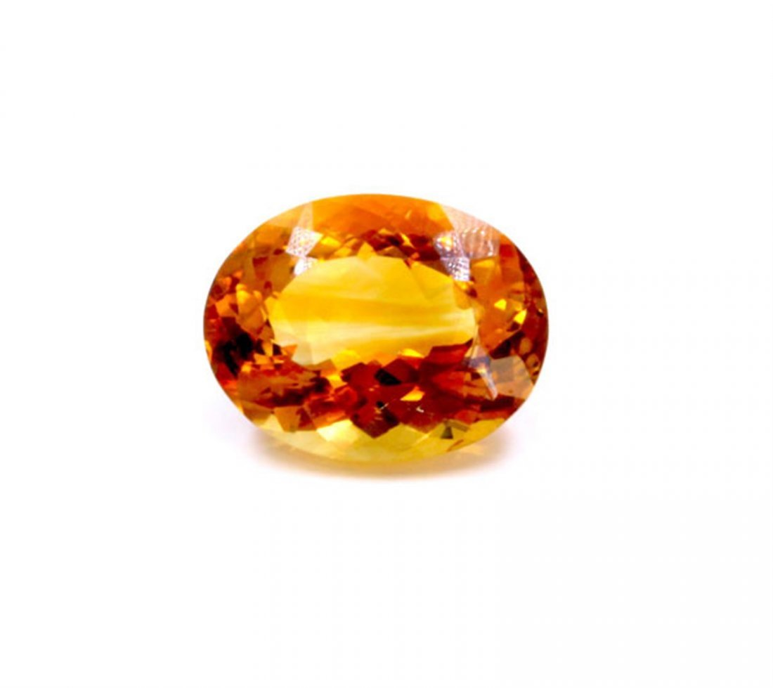 25 ct & up Citrine Oval Shaped Loose Stone